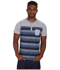 Howe Blurred Lines Tee Commodore Men's T Shirt Blue