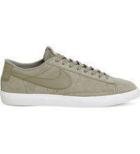 Nike Blazer Suede Low Top Vintage Trainers Khaki Fresh Mint