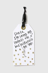 Topshop Christmas Bad Influence Necklace Clear