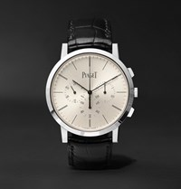 Piaget Altiplano Flyback Chronograph 41Mm 18 Karat White Gold And Alligator Watch Silver