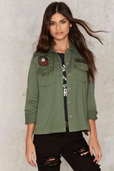 At Ease Patched Jacket Olive