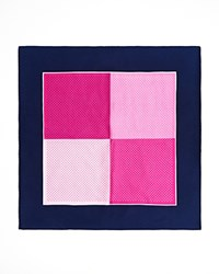 Burma Bibas Colorblock Silk Pocket Square Compare At 45 Fushia Pin