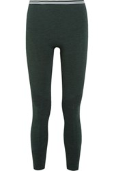 Lndr Seven Eight Stretch Knit Leggings Forest Green