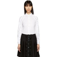 Red Valentino White Ruffle Shirt