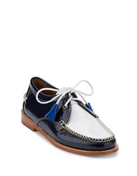 G.H. Bass Winnie Patent Leather Oxfords Navy White