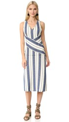 Edun Marine Stripe Dress Marine Multi