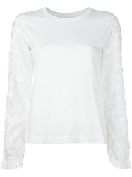 See By Chloe Embellished Sleeve Top White