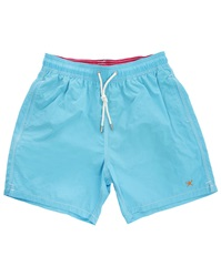 Hackett Turquoise Solid Volley Swim Shorts