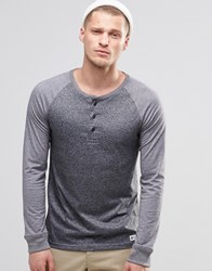 Element Stanley Long Sleeve Grandad Top Charcoal Heather Gray