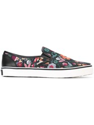 Red Valentino Floral Slip On Sneakers Black