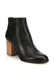 Helmut Lang Leather And Sheepskin Ankle Boots Black