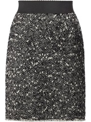 Dolce And Gabbana Tweed Skirt Grey