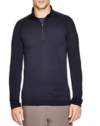 Hpe Cross Seamless Quarter Zip Sweatshirt Navy