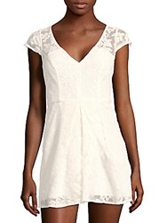 Bcbgmaxazria Pleated Lace Romper Whisper White