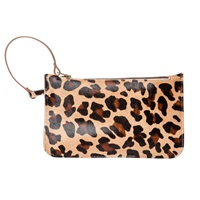 N'damus London Eloise Clutch Leopard Brown