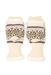Forever 21 Faux Shearling Convertible Gloves