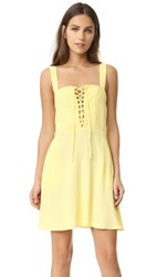 Flynn Skye Leila Lace Up Mini Dress Pastel Yellow