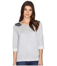 Cruel French Terry Crew Neck Pullover Gray Women's Clothing