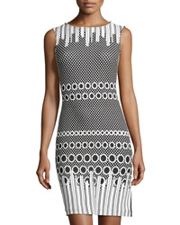 Julia Jordan Rio Dot Pattern Sleeveless Dress Black White