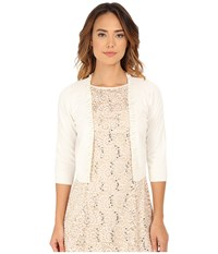 Rsvp Bre Shrug With Pearls Ivory Women's Sweater White