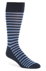 Nordstrom Men's Men's Shop 'Alton' Stripe Socks Navy Heather