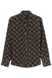 A.P.C. Printed Silk Shirt Black