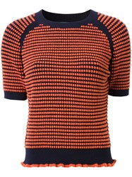 3.1 Phillip Lim Shortsleeved Knit Top Yellow And Orange