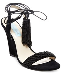 Betsey Johnson Faye Evening Wedge Sandals Women's Shoes