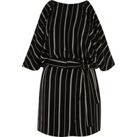 River Island Womens Black And White Stripe Cold Shoulder Playsuit