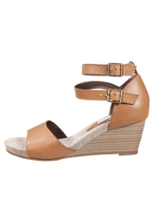 Pier One Wedge Sandals Cognac