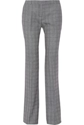 Alexander Mcqueen Prince Of Wales Check Wool Blend Bootcut Pants