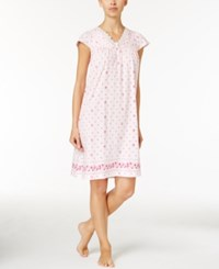 Charter Club Lace Trimmed Border Print Nightgown Only At Macy's Rose Buds Border