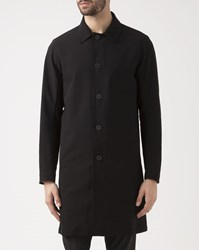 Theory Black Porter Trench Coat