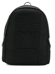 Emporio Armani Embossed Logo Backpack Black