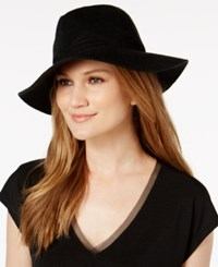 Inc International Concepts Faux Suede Stitch Fedora Created For Macy's Black