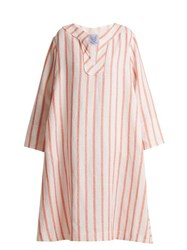 Thierry Colson Biarritz Spugna Striped Kaftan Orange Stripe