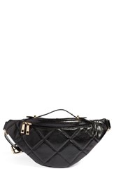 Bp. Quilted Faux Leather Belt Bag Black