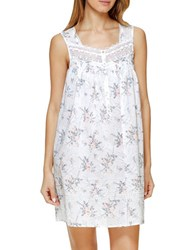 Eileen West Floral Short Chemise White Floral