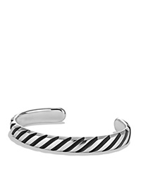 David Yurman Modern Cable Cuff Bracelet Silver