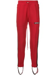 Represent High Waisted Track Pants Red