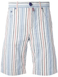 Jacob Cohen Vertical Striped Shorts White