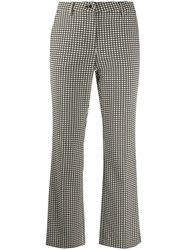 Luisa Cerano Cropped Check Print Trousers 60