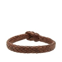 Chamula Wide Flat Woven Bracelet Brown