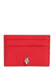 Alexander Mcqueen Grained Leather Card Holder