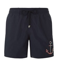 Vilebrequin Anchor Motu Swim Shorts Male Navy
