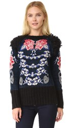 Temperley London Wander Knit Jumper Admiral Blue Mix