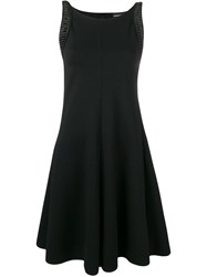 Emporio Armani Decorative Shoulder Panel Dress Black