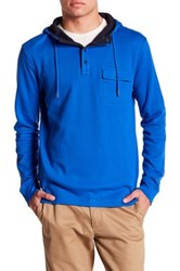 Nautica Long Sleeve Hooded Henley Blue