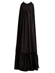 Kalita Brigitte Silk Habotai Maxi Dress Black