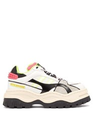 Eytys Grand Prix Exaggerated Sole Leather Trainers White Multi